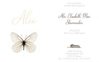 Geboortekaartje Alix